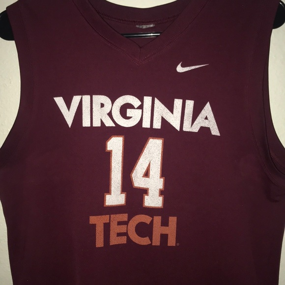 Authentic Virginia tech basketball jersey